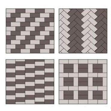 Схема укладки тротуарной плитки брусчатка
